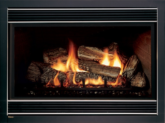 Typical Waldorf MD propane gas fireplace insert installation  Md logs Maryland