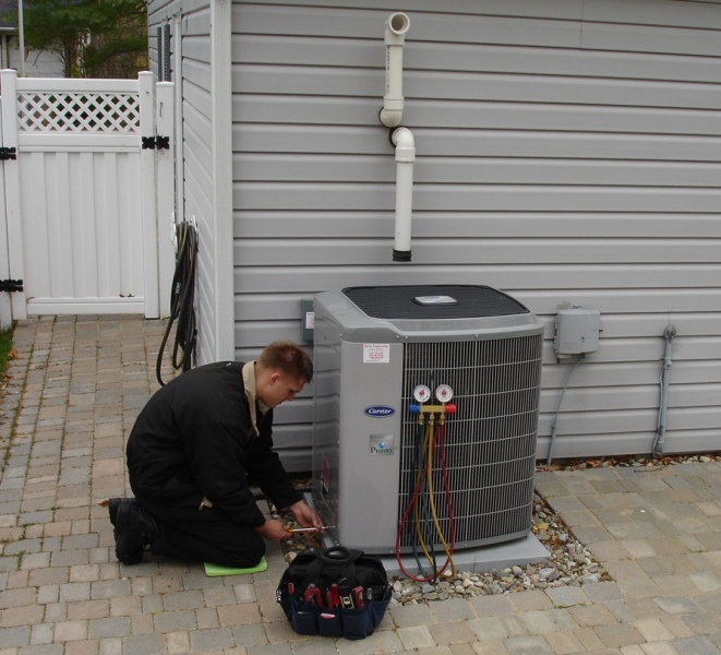 Davidsonville MD heat pump air conditioner repair service.